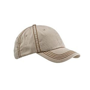 Contrast Thick Stitch Unstructured Cap Thumbnail