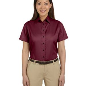 Ladies' Easy Blend™ Short-Sleeve Twill Shirt with Stain-Release Thumbnail