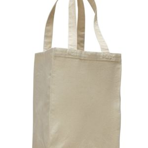 12L Canvas Gusset Shopping Tote Thumbnail