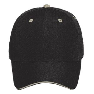 OTTO Recycled Canvas Sandwich Visor Six Panel Low Profile Baseball Cap Thumbnail