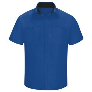 Men's Performance Plus Short Sleeve Shop Shirt with Oilblok Technology Thumbnail