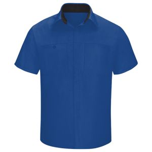 Men's Performance Plus Short Sleeve Shop Shirt with Oilblok Technology - Long Sizes Thumbnail