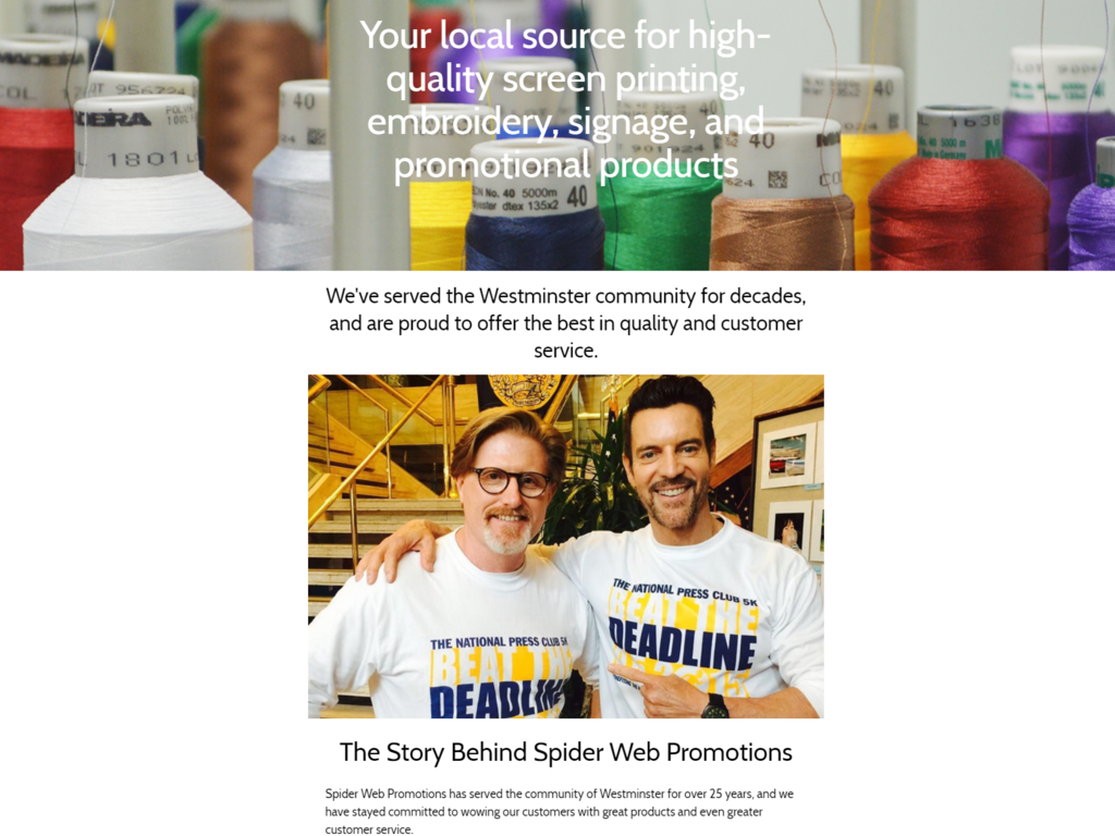 Spider Web Promotions Newsletter March 2018